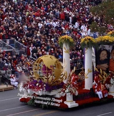 Tournament of Roses Parade Delta Sigma Theta Sorority Inc. Float     Credit: Gail Bowens