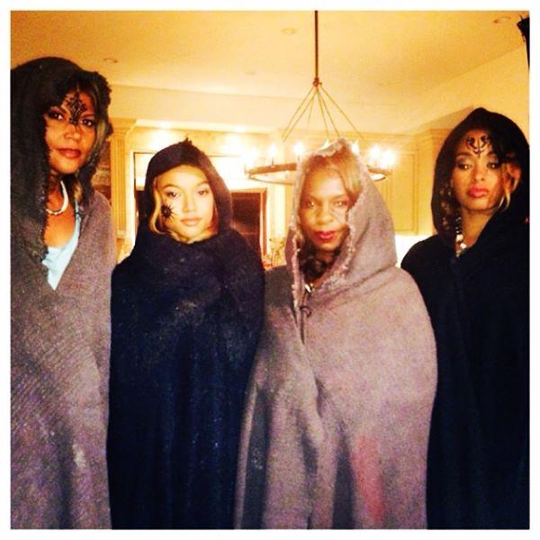"On the set of ""The Mirror"" with co-stars Aida Rodriguez, Karrueche Tran, Cheryl Francis Harrington and Davetta Sherwood."